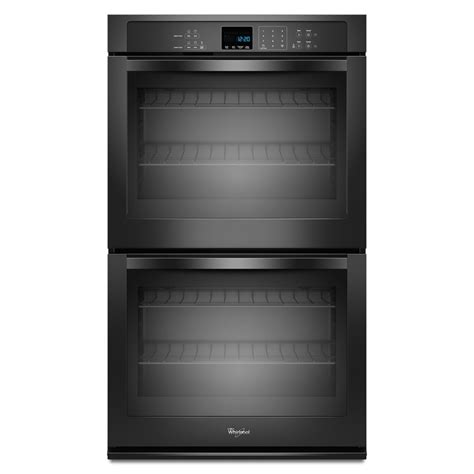 Oven Racks Lowes by Shop Whirlpool Self Cleaning Electric Wall Oven Black Common 27 In Actual 27 In At