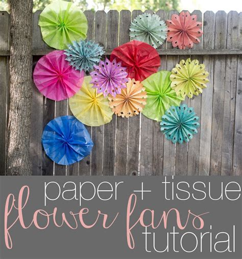 How To Make Paper Fan Flowers - domestic fashionista paper flower fans tutorial