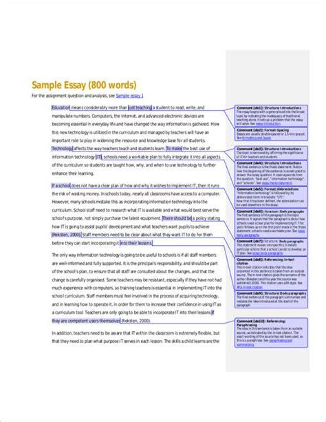 800 word essay sle 11 essay writing sles templates pdf