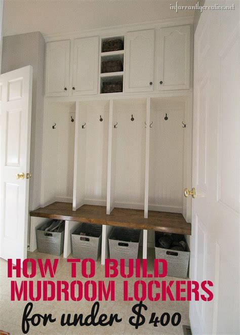 mudroom locker plans diy how to build mudroom lockers the sewing rabbit
