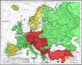 Map Of Europe Ww1 by World War I Educationalforumofyihua