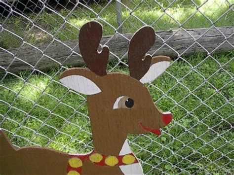 pattern for white wooden reindeer wood rudolph christmas reindeer yard decoration large