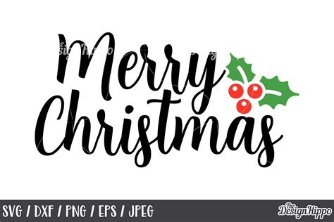 merry christmas svg dxf png cut files cricut designs