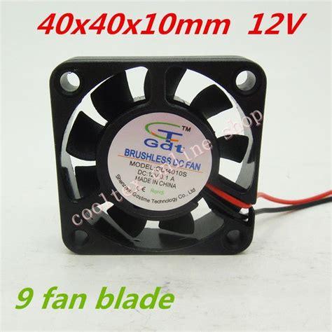 brushless radiator fan 3pcs lot 40x40x10mm 4010 fans 9 fan blade 12 volt