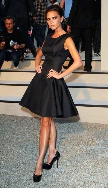 Frock Horror Of The Week The Spice Victorias Secret Carpet Appearance by Beckham Classic Black Dress Lbd