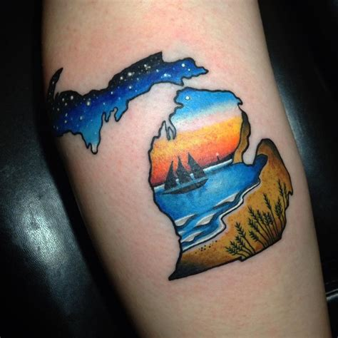michigan outline tattoo 50 best and designs and ideas for 2017