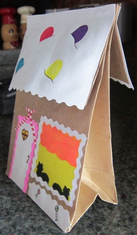 Paper Bag House Craft - crafts activities for squarehead teachers