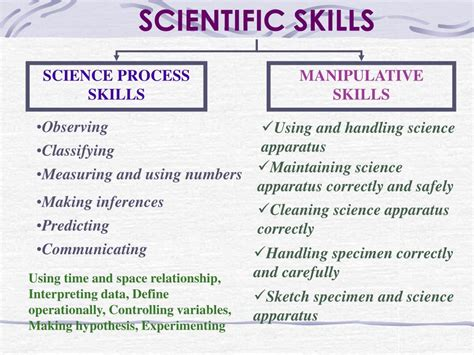 Science Process Skills Worksheets by Ppt Scientific Skills Powerpoint Presentation Id 433301