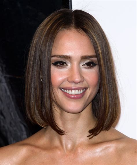 bob haircut jessica alba jessica alba medium straight formal bob hairstyle