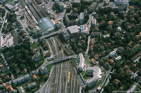 train station chur scenic flight east  central switzerland aerial pictures gallery