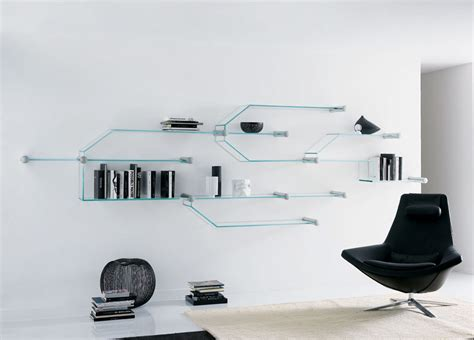 Modern Livingroom Furniture transistor glass shelves tonelli design glass shelves
