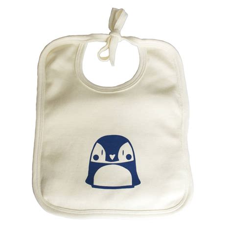 Bib Baby penguin organic cotton baby bib by nell