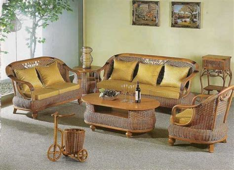 Bamboo Living Room Set Small Space Vintage Living Rooms