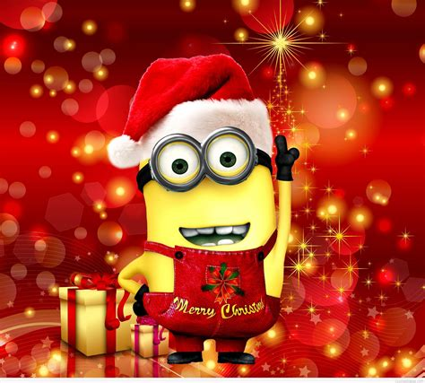 merry christmas minion wallpaper love  minions pinterest