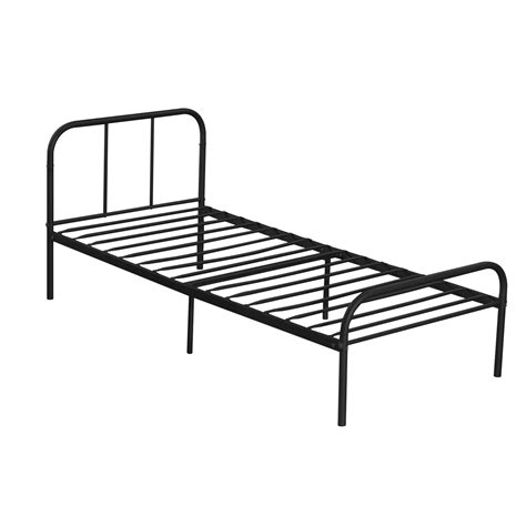 Heavy Duty Bed Frame Metal Platform Bed Frame Size Bedroom Heavy Duty Mattress Foundation Black Ebay