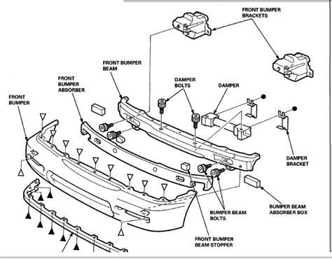 1997 honda accord parts diagram remove front bumper 1997 honda accord