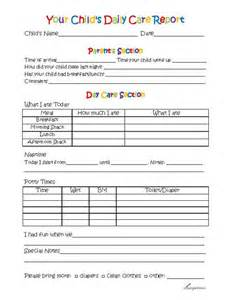 Daycare Information Sheet Template by 25 Best Ideas About Preschool Daily Report On