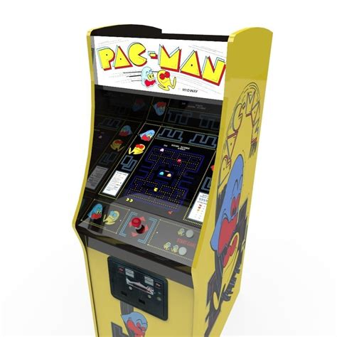 an arcade cabinet pacman arcade cabinet 3d model ready fbx ma mb