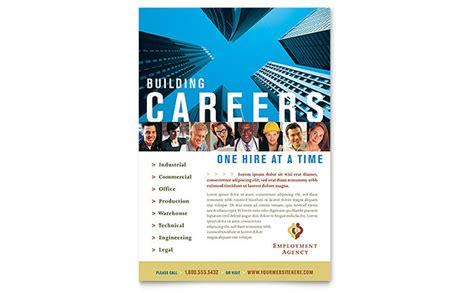 fair brochure template employment agency fair flyer template design