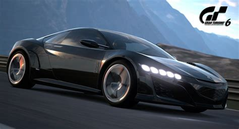 honda supercar concept acura nsx supercar concept available in gran turismo 6