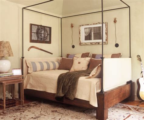 corner queen bed showhouse eclectic bedroom atlanta by dillard