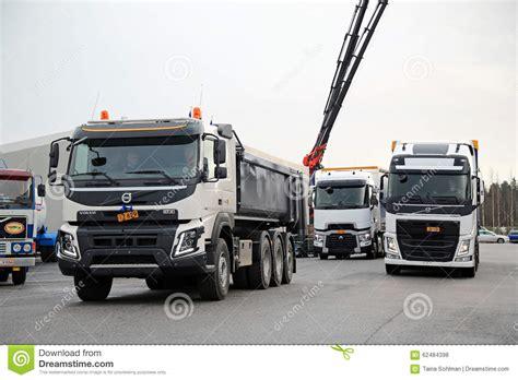 volvo  renault trucks  demo drive editorial stock photo image