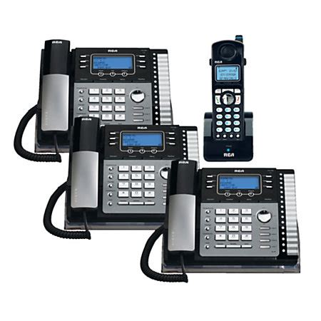 4 Phone System Telefield Rca 4 Line Dect 6 0 Expandable Cordlesscorded Phone System With Digital Answering