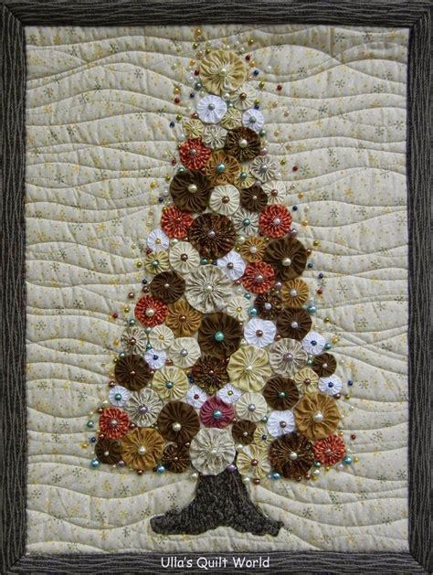 quilt pattern christmas tree ulla s quilt world christmas tree quilt yoyo picmia