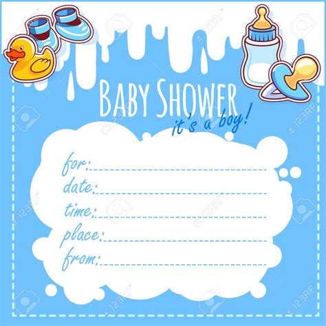 Blank Baby Shower Invitations by Theme Blank Baby Shower Invitation