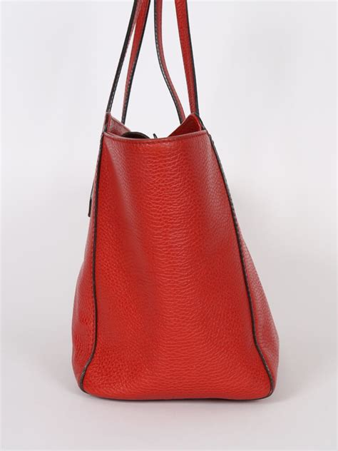 gucci swing leather tote gucci swing small red leather tote luxury bags