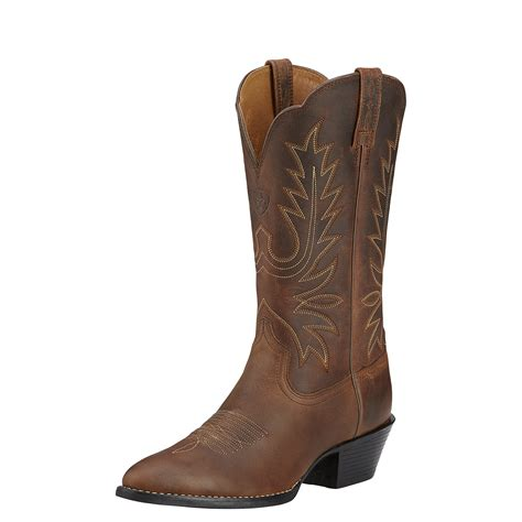 heritage boots ariat s heritage western r toe distressed brown boots