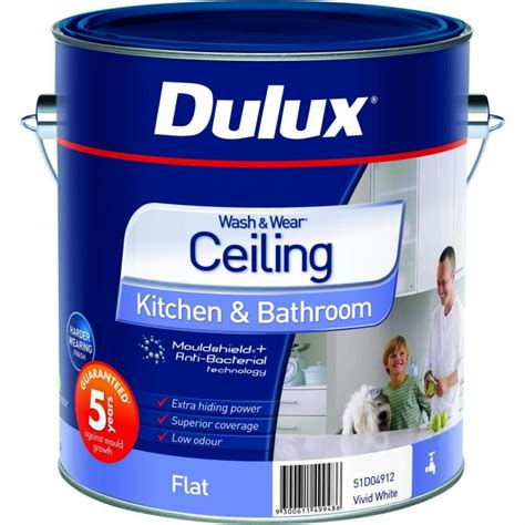 dulux bathroom paint price dulux wash wear kitchen bathroom ceiling direct