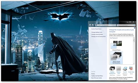 batman wallpaper for windows xp ثيم باتمان لويندوز 7 رائع batman world windows theme