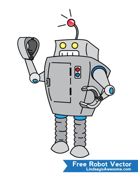 vector robot tutorial free robot vector lindsay is awesome