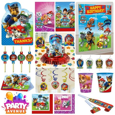 paw patrol party tableware decorations balloons favours ebay