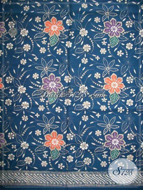 Exclusive Kain Sajadah Tenun Asli Murah Meriah kain batik motif floral warna biru kain batik exclusive asli batik k938ct toko batik