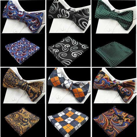 butterfly bow tie set new design self bow tie and hanky set silk jacquard woven