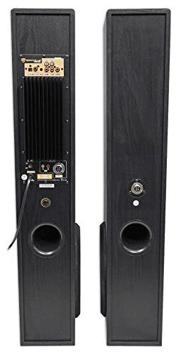 rockville tm150b black home theater system tower speakers