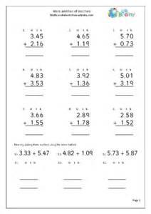 more written addition of decimals addition maths