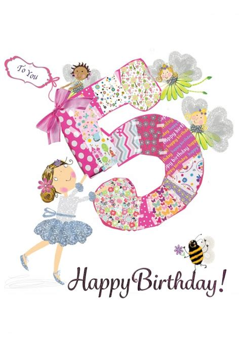 Happy 5th Birthday Wishes Choosey Greetings Cards Happy 5th Birthday