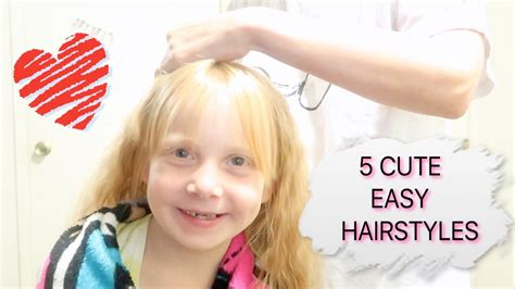 easy going out hairstyles youtube 5 easy hairstyles for girls youtube