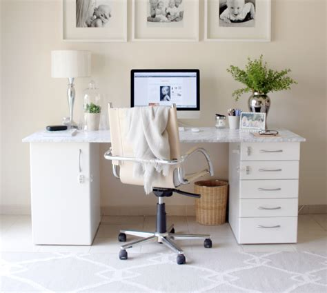 diy marble desk house of hawkes