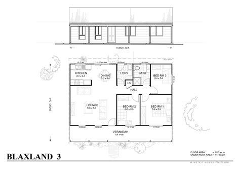 blaxland 3 met kit homes 3 bedroom steel frame kit
