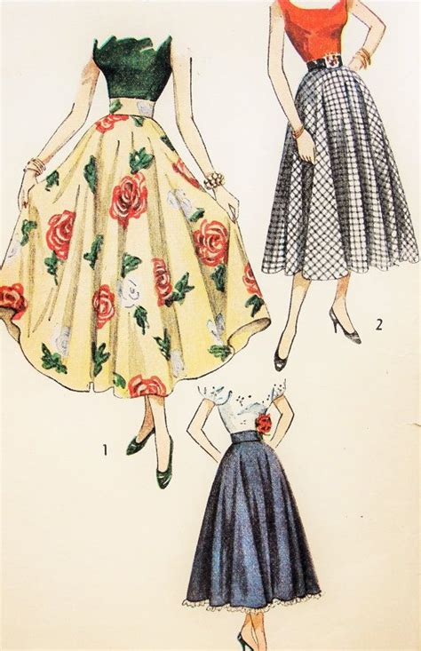 pattern for vintage skirt simplicity 2359 vintage sewing pattern 40s full circle