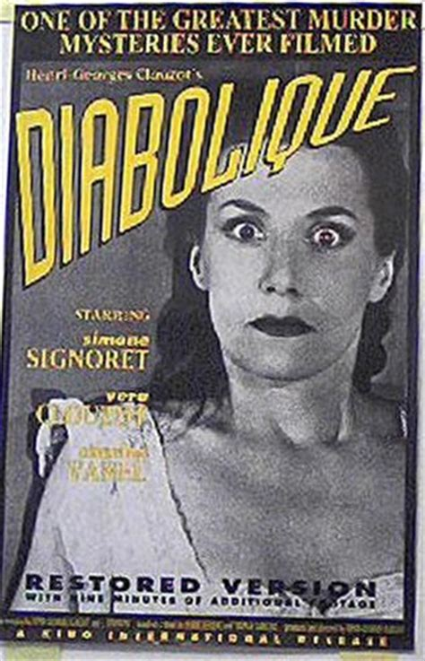 Diabolique 1955 Film Diabolique 1955 Simone Signoret 22x34 Kino Restoration Poster R M 25
