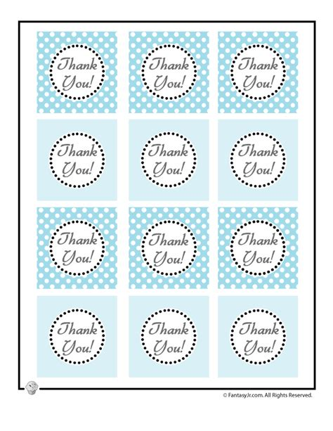 Anneui Mustache Sticky Notes Blue winter birthday goody favor bag thank you tags woo