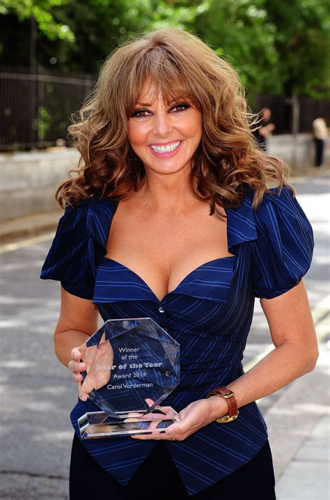 carol vorderman wins rear   year  metro uk