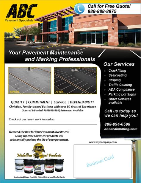 Customizable Flyers Sle Business Template Asphalt Paving Template