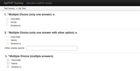 bootstrap templates for quiz php survey by apphpcc codecanyon