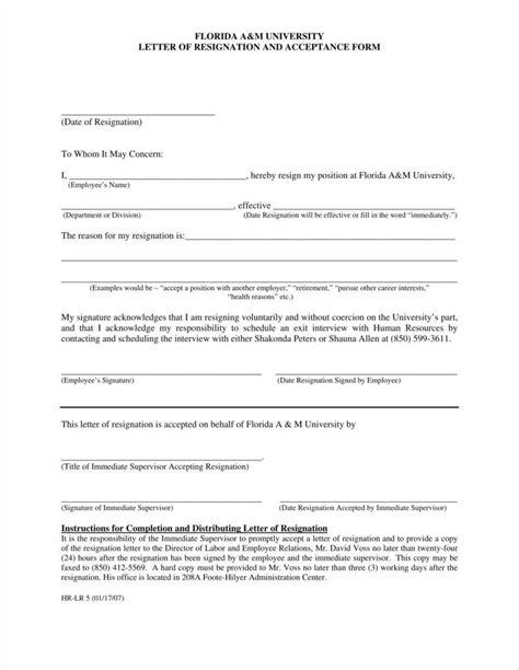letter of resignation template free b2u info